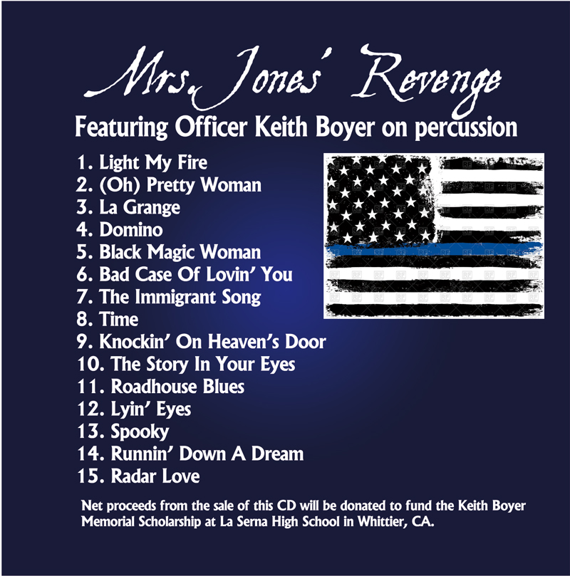 Keith Boyer CD Back